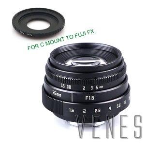 Image 4 - VENES Mini 35mm f/1.6 APS C TV Lens + C Anel Macro para câmera adaptador para Micro 4/3 /para Pentax Q OM DE M10 II E M5 IIE M1 E M5