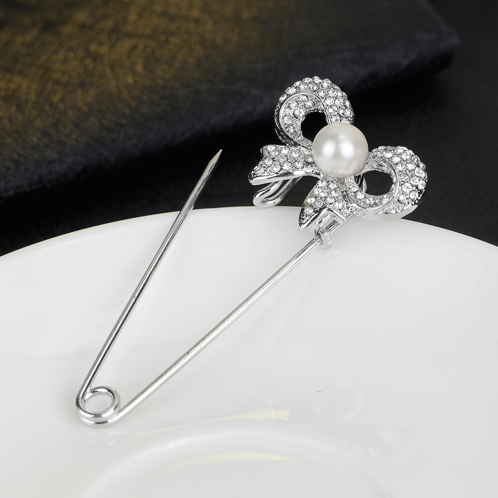 Fashion Latest Safety Pins Brooch Jewelry Bow Brooches And Brooches For Women Scarves Corsage Shawls Sweater