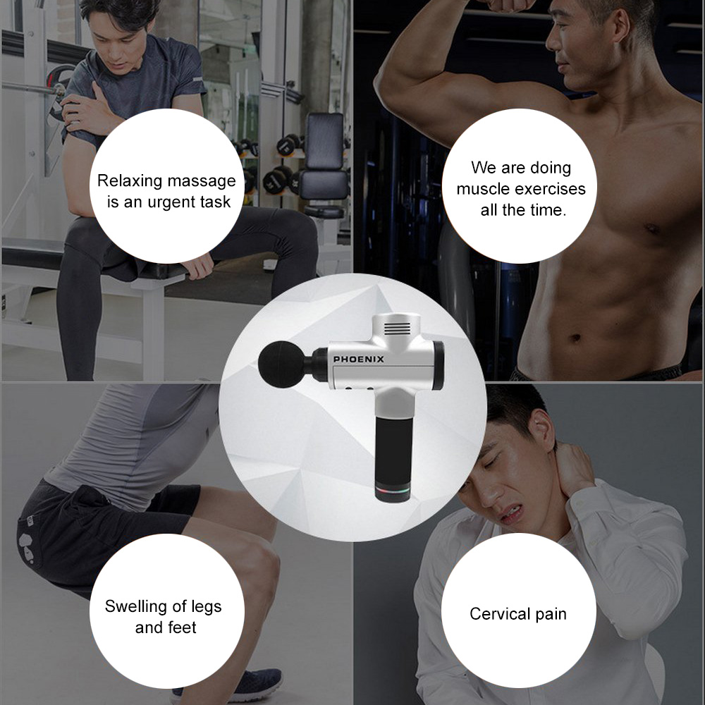 Professional Body Massager Therapy Massager Guns Fitness Vibrator Electric Vibrating Muscle Massager Guns Relax Muscle Tools in Oscillating Multi Tools from Tools