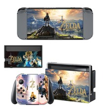 Mari o Zelda Poke Vinyl Cover Skin Sticker For Nintendo Switch NS Console & Joy-Con Controller Game Sticker Decals Protector