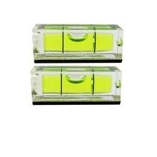 QASE 10*10*29 мм квадратный спиртовой уровень пузырьковый с магнитной полосой прозрачный или зеленый 1 шт