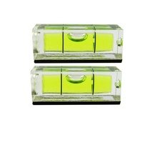 HACCURY 10*10*29 mm Square Spirit Level Bubble with Magnetic stripe Transparent or Green 1 Piece