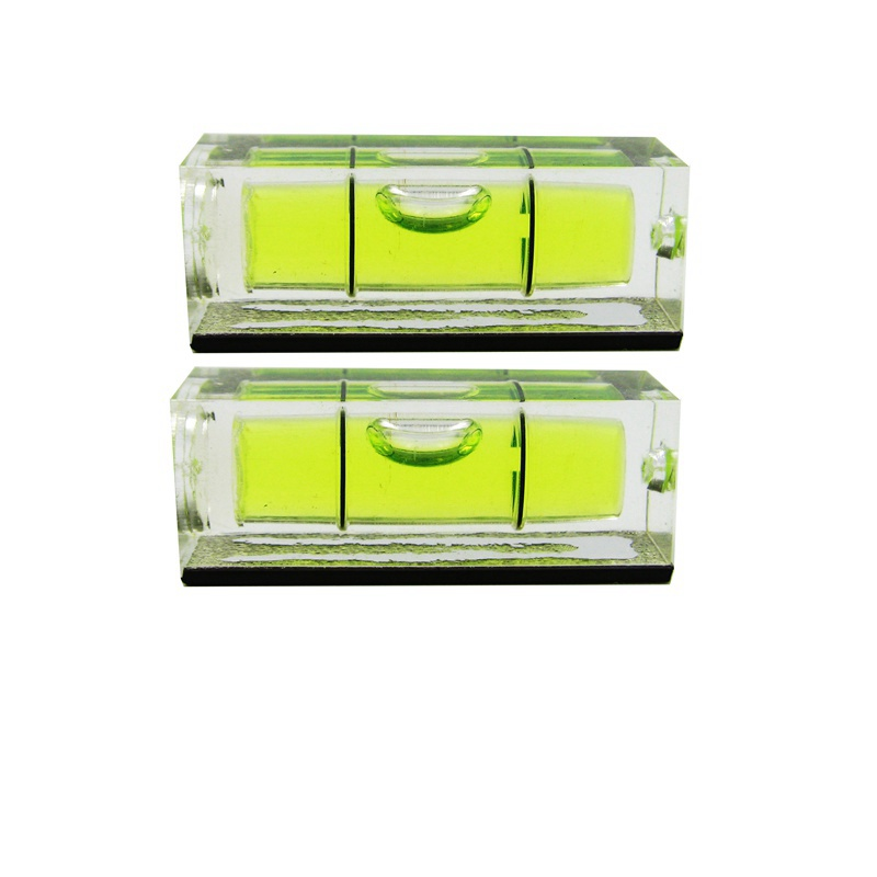 QASE 10*10*29 mm Square Spirit Level Bubble with Magnetic stripe Transparent or Green 1 Piece