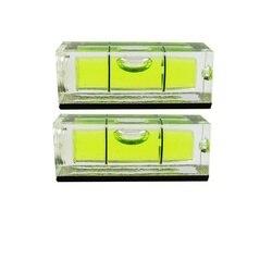 QASE 10*10*29mm Vierkante Waterpas Bubble met Magnetische streep Transparante of Groen 1 Stuk-in Instrumenten voor niveaumeting van Gereedschap op