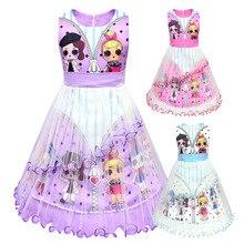 hot deal buy lol dolls baby dresses 3-10y cute elegant dress kids party christmas costumes children clothes princess lol girls dress