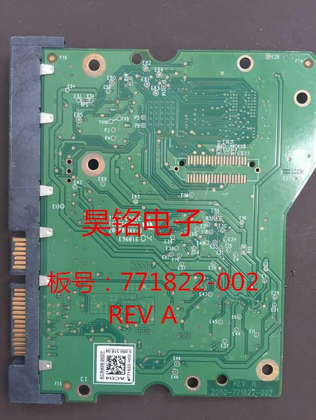 HDD PCB Logic Board Printed Circuit Board 2060-771822-002 REV A P1 For WD 3.5 SATA Hard Drive Repair Data Recovery