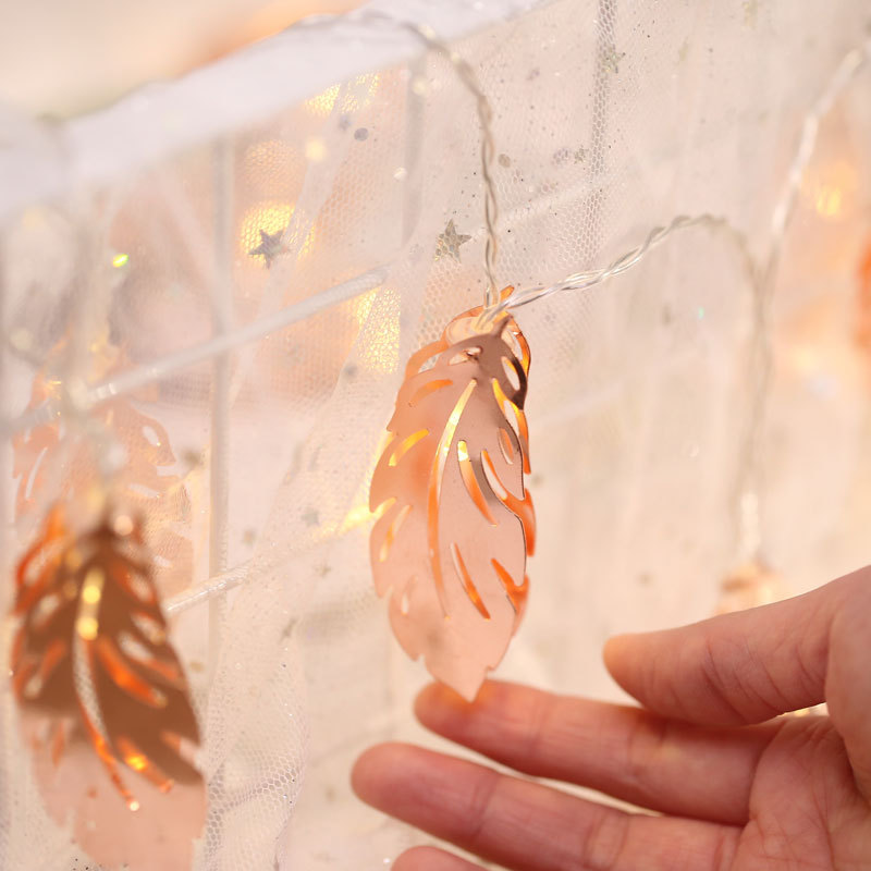10/20/50 Led Fairy Copper Feather lamp Battery Operated String Lights LED Decoration For Christmas Garland New Year Home Decor