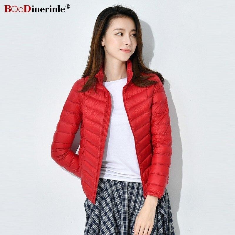 163af51a BOoDinerinle chaqueta de invierno para mujer abrigo ultradelgado blanco  abajo chaqueta para mujer ...