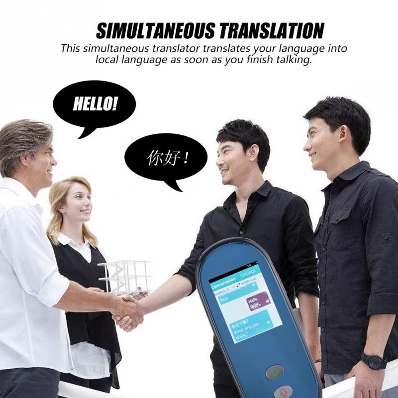 Intelligent Traduction Simultanée WIFI Voix Traducteur 28 Langues Multilingue D'apprentissage de Voyage Traduction Translato