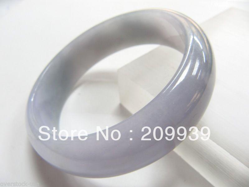 Huij 00270 CERTIFIED 100% NATURAL A JADE grado / PURPLE jadeíta BANGLE / 59 MM