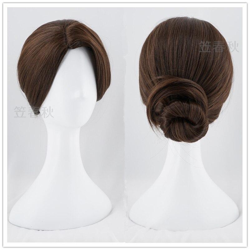 Detroit: Become Human Kara cosplay wig women brown buns Connor black short hair wig costumes