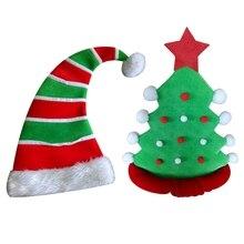 ac89b1ea4087b Pentagram Velvet Clown Elf Hat Christmas Hat Christmas Tree Christmas Hat  Navidad Cloth Adult Christmas Hats
