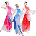 Novo Chinês Dança Folclórica Chinesa Clássica Trajes Yangko Trajes do Desgaste da Dança 3 Cores roupas performance de Palco