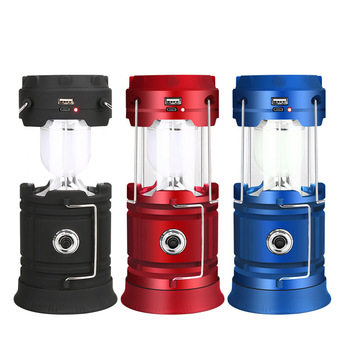 Outdoor Survival Camping Light 18560 Battery Solar Light Waterproof LED Collapsible Portable Lantern For Backpacking Beach Tents 2