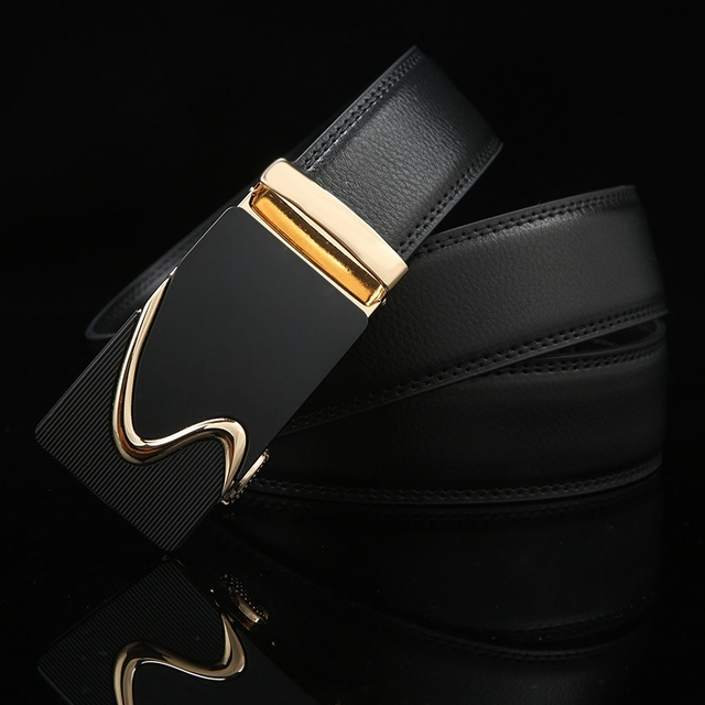 8804efc4ef8 Fashion Men Luxury Brand Belt Business Belts Automatic Buckle Genuine  Leather Belt Men Accessories Casual Waist Belt 15 Style