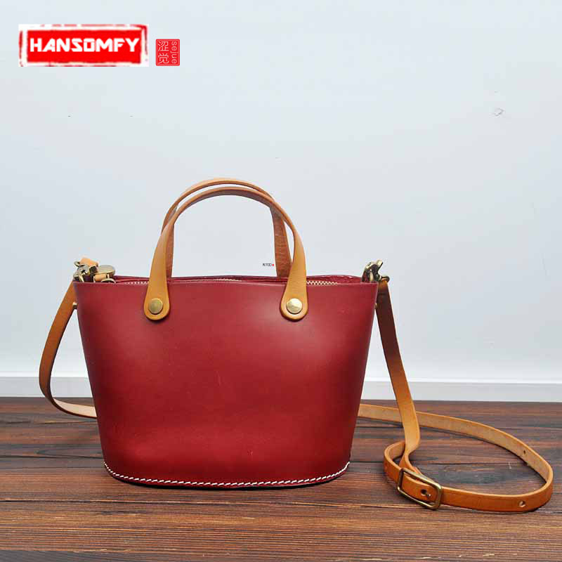 2018 new original hand-made Women Handbags tannage Genuine leather retro female veneer shoulder bag zipper messenger Bags women new handbags retro genuine leather handbag shoulder bag head layer cowhide messenger bags female pure hand made bags