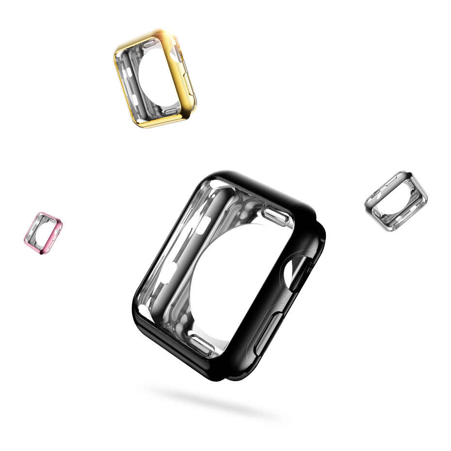 HOCO זהב ציפוי רך סיליקון מקרה עבור אפל שעון סדרת 2 כיסוי עבור iWatch סדרת 3 מגן כיסוי TPU פגז 42mm 38mm