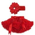 1 piezas de Apple Rojo Suave Tutus Para Niños/Niñas Daisy Infantil Flor Diadema + tutu esponjoso Envío Libre