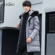 Gersri Warm Parkas Men Winter Jackets long Coats Hooded Casual Man Outwear Windproof Overcoat Jaqueta Masculina