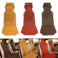 AUDEW Natural Wooden Car Cushion Wooden Beaded Seat Cover Massage Cool Comfortable Car Cushion