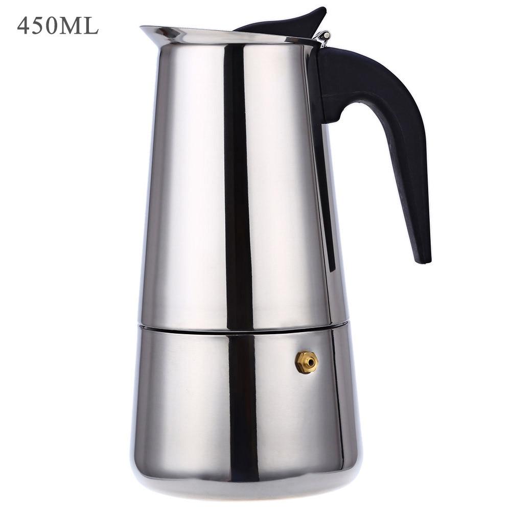Stainless Steel Coffee Pot Mocha Espresso Latte Percolator Stove Coffee Maker Pot Percolator Drink Tool Cafetiere Latte Stovetop 14