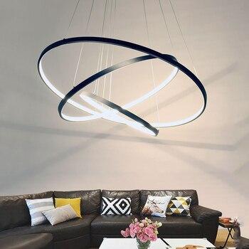 Czarny biały rama wisiorek światła dla nowoczesne jadalnia lampy abajur lustre oświetlenie w stylu vintage wisiorek LED lampa