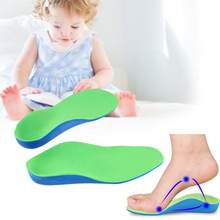 14-24cm Children Kids Eva Orthopedic Insoles Pads Children Flat Foot Arch Support Orthotic Pads Correction Health Feet Care(China)