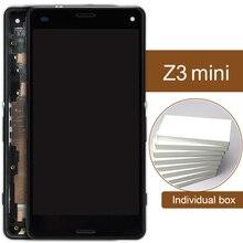 5 шт. смартфон Замена Дисплей для Sony Xperia Z3 мини ЖК-дисплей с Рамки D5833 D5803 Белый Черный Сенсорный экран сборки