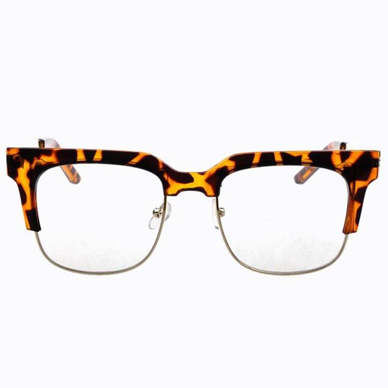Semi rim vintage cuadrado grande gafas marco para las mujeres con ...