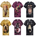 2016 New Fashion Men 3D T Shirt Animal Printed Cotton T-Shirts Short Sleeve O Neck Top Tees Loose Man Tshirt Homme 11 Version