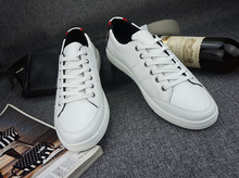 High quality Men's Boots Boys White Shoes men shoes Cow split Deodorization Breathable 9 size and 6 difference colors