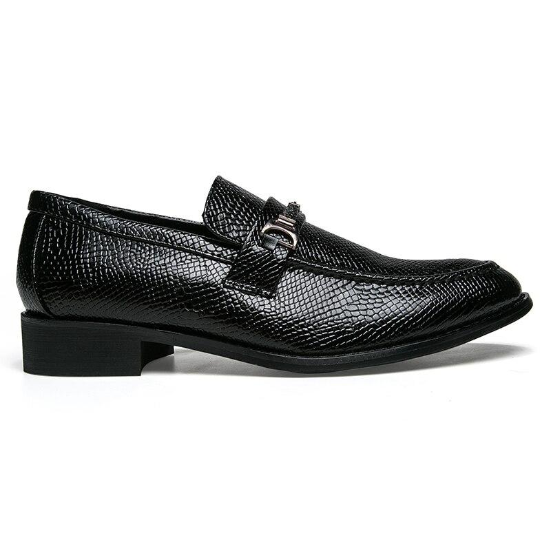 men's snake skin cool platform oxfords patent leather shoes male footwear wedding fashion famous designer brogue shoes for men (28)