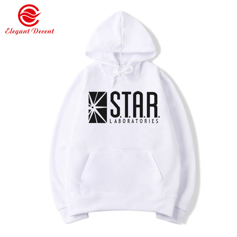 Flash Barry Allen Star Lab Labs Black Color Mens Sweatshirt Men Novelty Hoodies Pullover 2019 Male Clothes Arrow Friend Y22