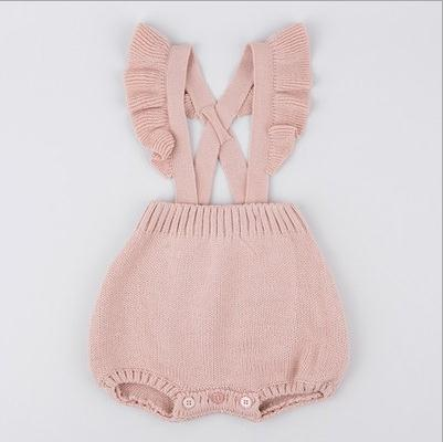 2018 Toddler Baby Boy Girl Knitting Romper Jumpsuit Infant Knitted Baby Rompers Winter Sling Strap Baby Clothes Playsuit Outfit