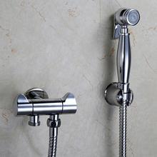 Медный кран для биде с одним отверстием, 4 типа биде спрей душ хром, ванная комната настенный туалетный смыв