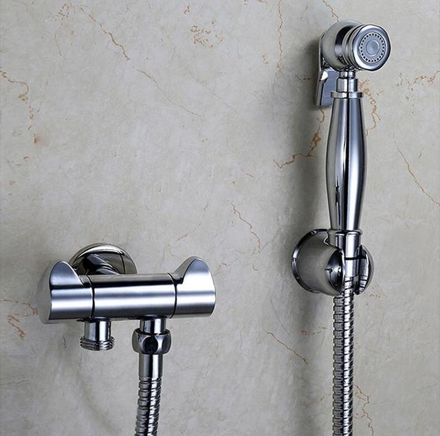 Copper single hole bidet faucet valve set, 4 Types bidet spray ...