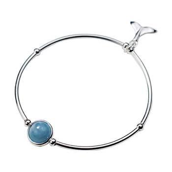 Bracelet Argent Aigue Marine