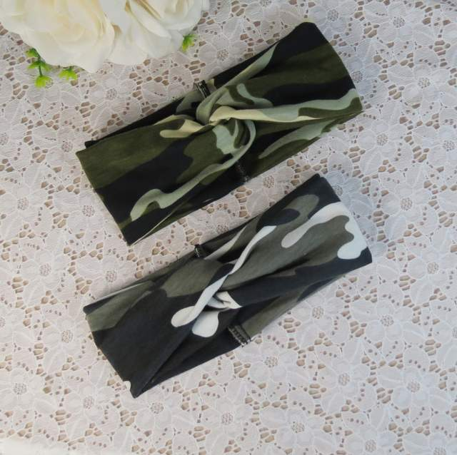 Camouflage Hair With Hair Band Fashionable Sport Headband Running