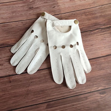 2019 Latest Sheepskin Gloves Man Touchscreen Driving Male Real Leather Locomotive Anti-Slip Summer Breathable TB131-4