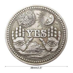 Да или нет черепа памятные монеты сувенир вызов коллекционные монеты коллекция Искусство ремесло Новый
