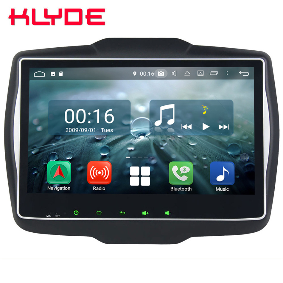 10.1 IPS Octa Core 4g Android 8.1 4 gb RAM 64 gb ROM RDS BT Voiture DVD Multimédia lecteur Autoradio Radio Pour Jeep Renegade 2016-2018