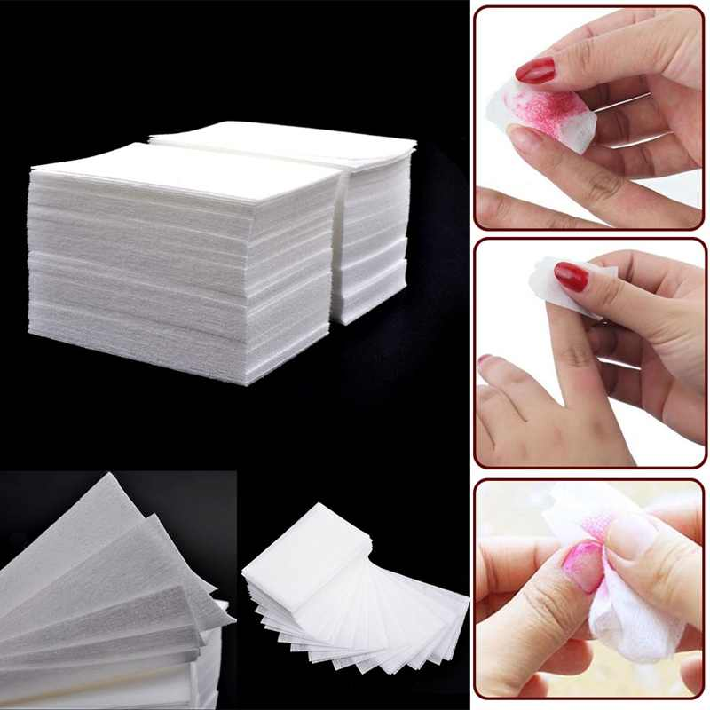 1000 Pcs/pack Solid Durable Nail Tools Manicure Gel Nail Polish Soak Off Remover Pads Lint-Free Wipes 100% Cotton Napkins Wraps
