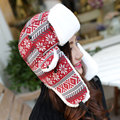 Woman Russian Women Winter Hats Keep Warm Knitting Hat Fur Earmuff Thick Snow Cap Outdoor Adult Cap Women's Bomber Hats