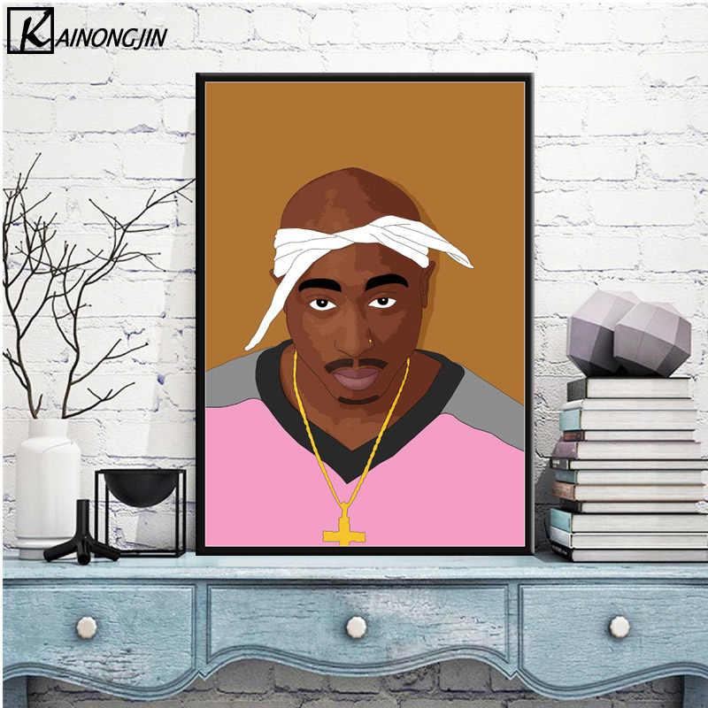 Plakat Tupac Shakur notorycznie B.I.G. Biggie 2pac plakaty i druki obraz na płótnie obraz na ścianę do salonu wystrój domu