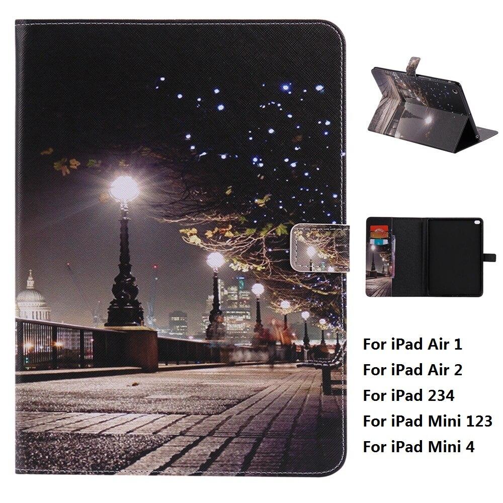 Night and Plastic Back Cover Case For iPad Mini 1 2 3 4 iPad Air 1 2 iPad 2 3 4 iPad 2017