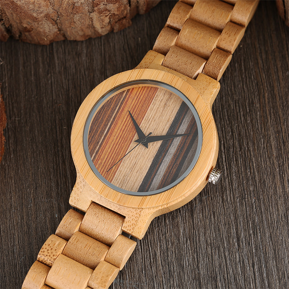 YISUYA Simple Handmade Nature Wood Quartz Wristwatch Analog Casual Women Full Wooden Bamboo Men Creative Watches 2017 New (10)
