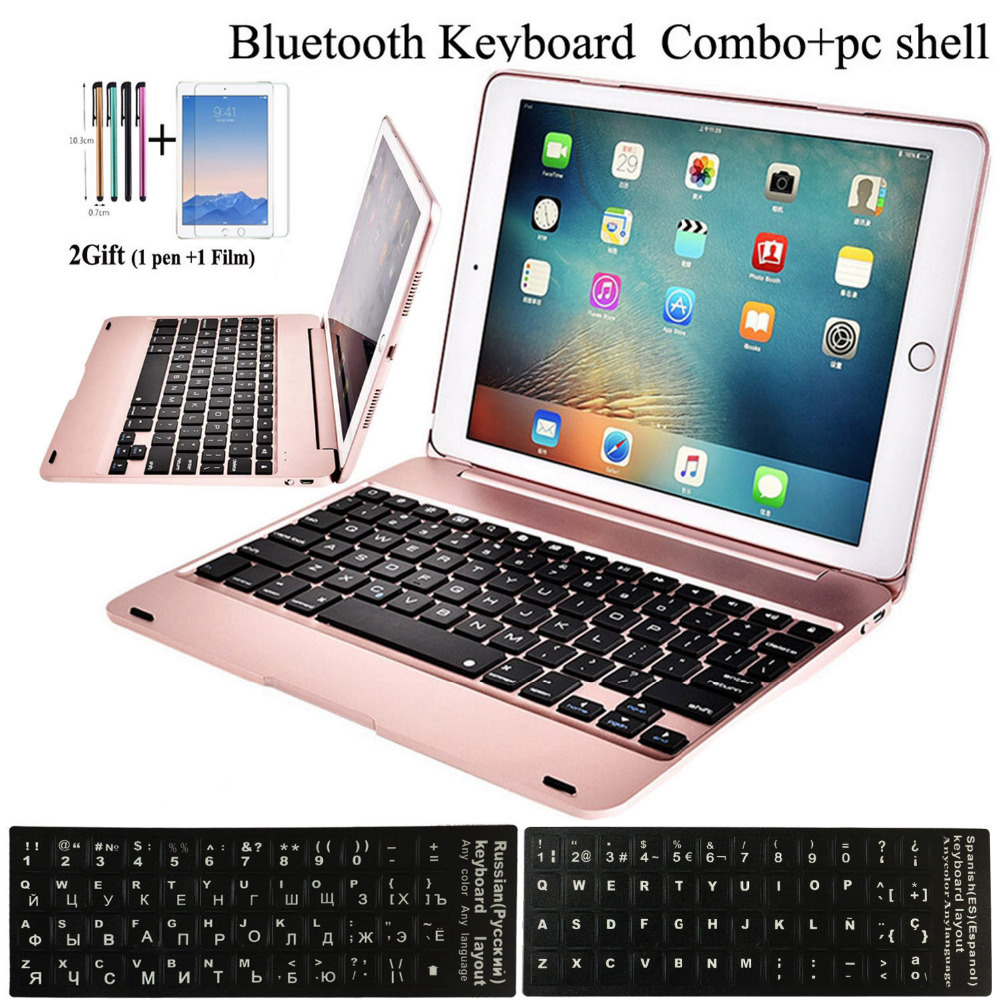 Flip Keyboard For Apple New IPad 9.7 2017 2018 5th 6th Generation Wireless Bluetooth Keyboard Case For IPad Air 1 2 5 6 Pro 9.7
