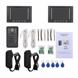 7-дюймовый 1V2 RFID пароль монитора видео домофон дверной звонок с ИК Камера Ночное видение 1000TV линии Система контроля доступа