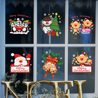 Quality Christmas Living Room Xmas Santa Claus Snowman Elk Stickers Window Showcase Glass Decor Poster Decorative Films AA