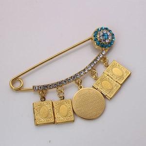 Image 5 - muslim islam Allah Koran book AYATUL KURSI Stainless Steel brooch Baby Pin